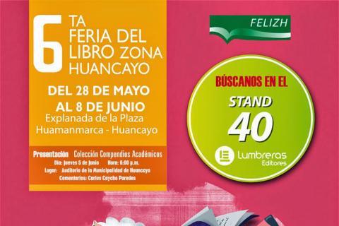 HUANCAYO. Afiche de la 6ª Feria del Libro de Huancayo.