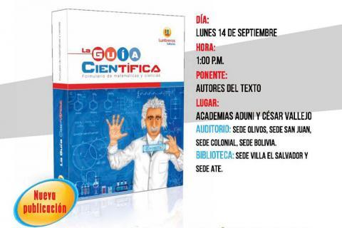 PORTADA. La Guía Científica. Formulario de matemáticas y ciencias